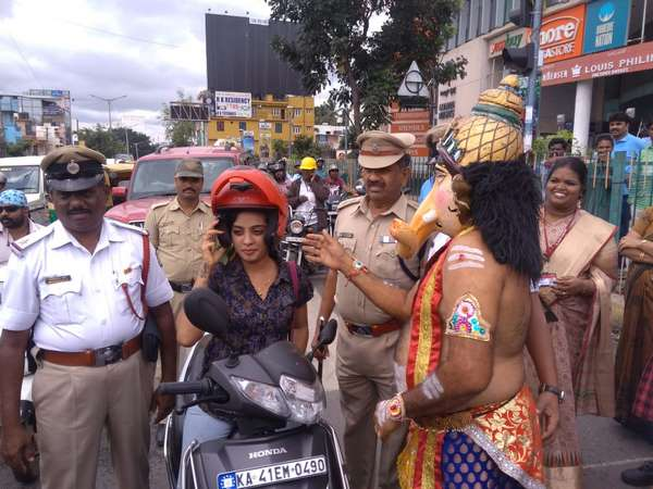Lord Ganesh will bless you if not violate traffic rules!