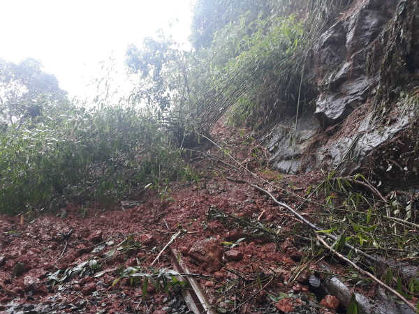 Due to heavy Rain landslide in western Ghat region