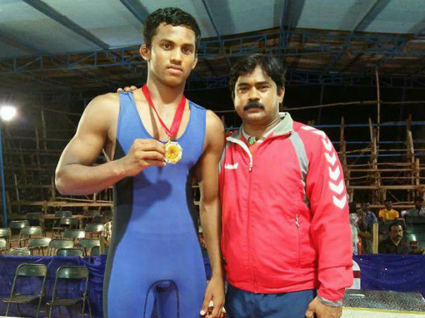 Young wrestler Vikas Gowda died in Davanagere today