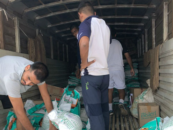 Relief Materials For Flood Victims Of Kerala And Kodagu Sent From Mangaluru