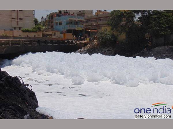 Foam in Bellanduru lake worries surrounding residents