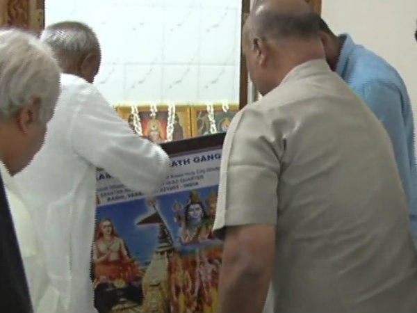 Lord Kashi Vishwanath photo installed in HDD residence