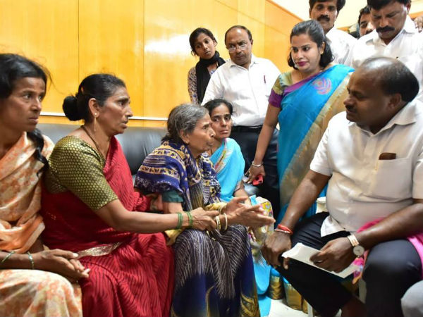HD Kumaraswamy handover the composition for Nandeesh family