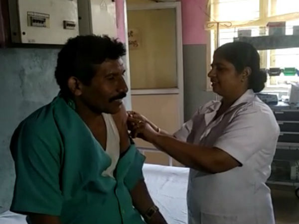 Team of doctors visited to Ichalampady village