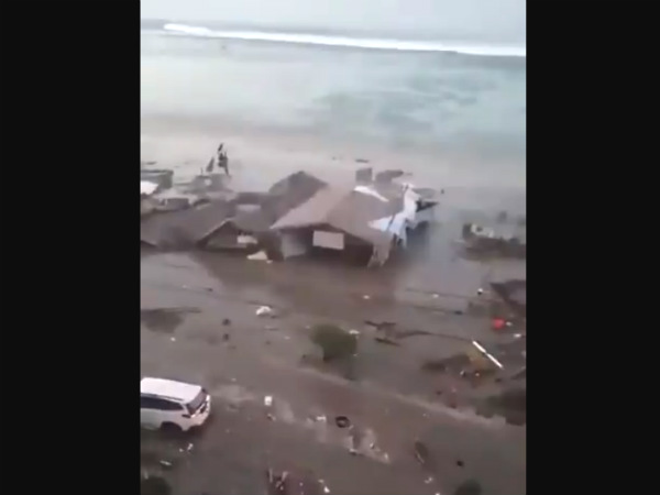 After two powerful earthquakes Tsunami devastates Indonesia