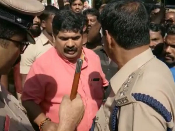Clash between MLA and Congress protesters in Mangaluru