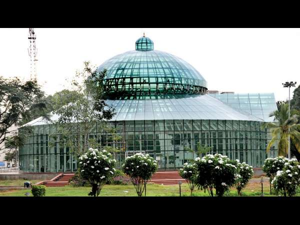 Dasara flower show centre of attraction is the glass palace