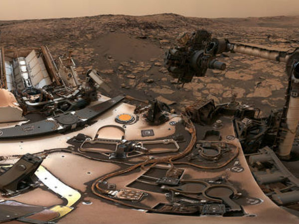 NASAs Curiosity rover Panorama click on Mars