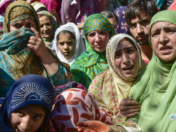 Kashmir Cops mother begged for her sons life with terrorists