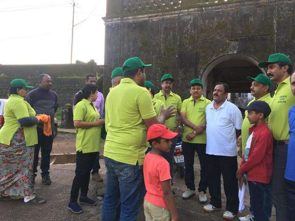 Madikeri fort campus cleaning campaign has begun