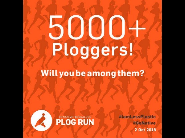 Plog run on October 2nd for plastic free Bengaluru