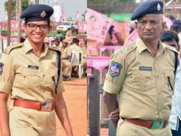 proud father police salutes senior officer daughter