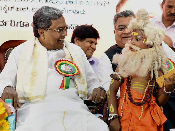 Siddaramaiah visiting his costituency Badami on September 27