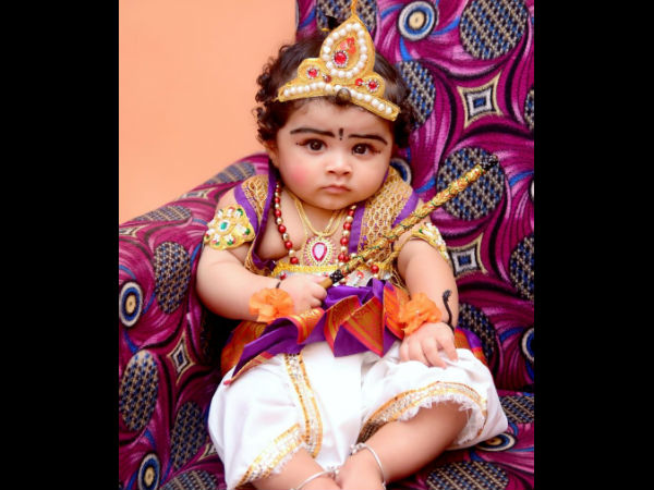 Krishna Janmashtami Adorable Little Kids As Bala Krishna