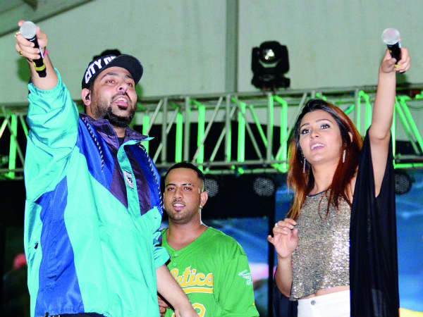 Singer Badshah participated in the second day of the Yuva Dasara Programme