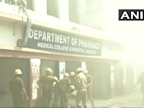 Fire accident in Kolkata medical college