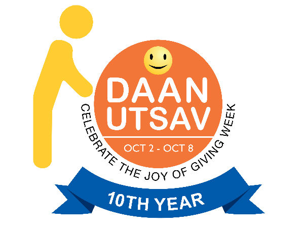 Lets celebrate Daan Utsav between October 2nd to 8th