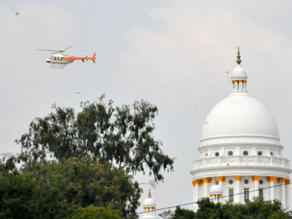 Helicopter Jolly Ride has begun to see the city of Mysore