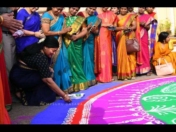 Jayamala said Rangoli is a great art of our cultural heritage