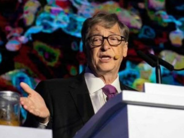 bill gates in toilets expo with poop at beijing
