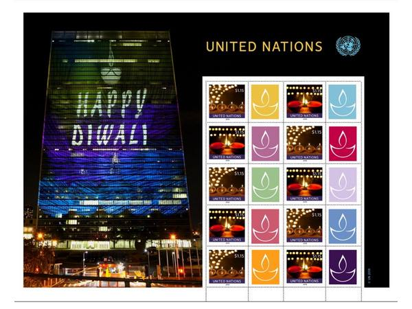 deepavali special stamp released by united nations