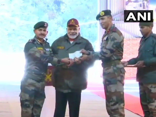 Narendra Modi celebrated Diwali with soldiers in Uttarkhand