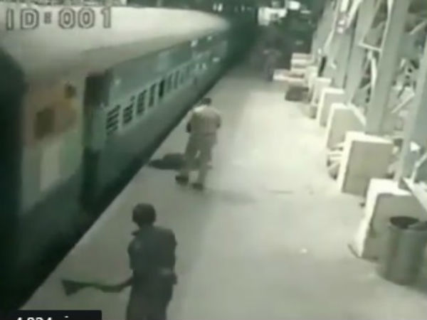 Viral Video: RPF personnel saved a passengers life