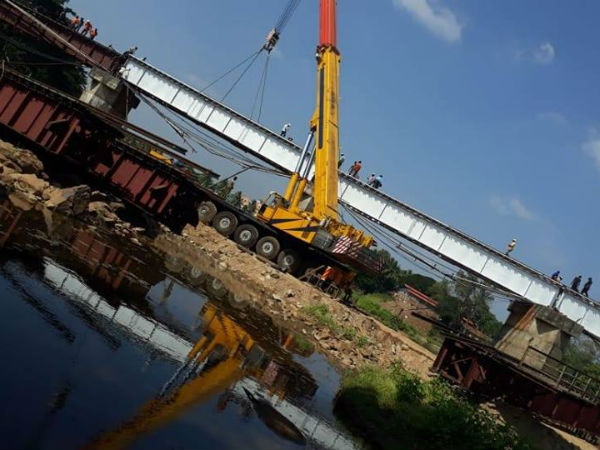 Bhadra River Bridge Girder Replaced In 7 Days