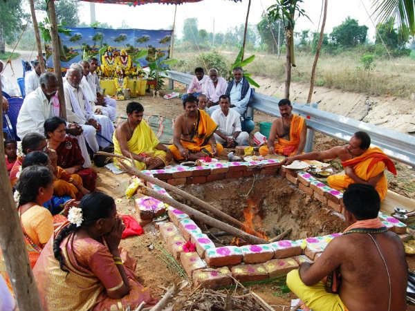 Villagers have performed Shanthi pooja
