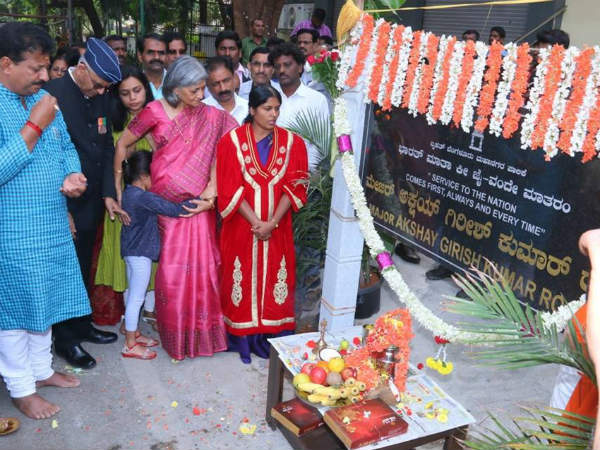 Bengaluru road named after Major Akshay Girish