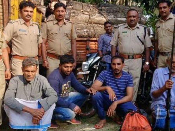 4 arrested for hunting in Bantwal