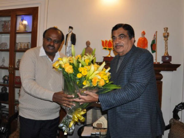 HD Kumaraswamy and Nitin Gadkari