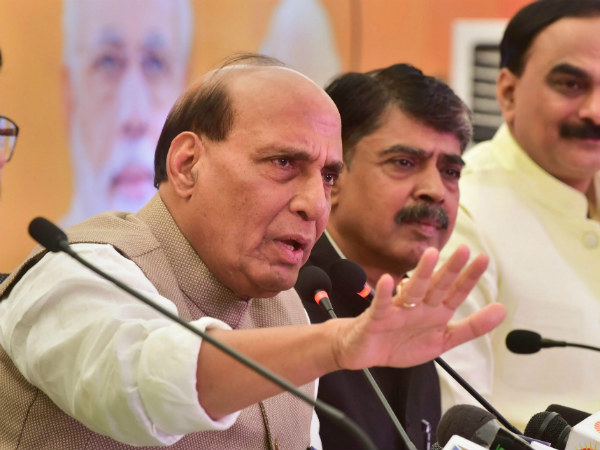 Temple, cows are election stunt for Congress, but integral to BJP: Rajnath Singh