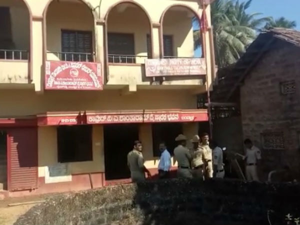 Last night Miscreants set fire to CPIM Office