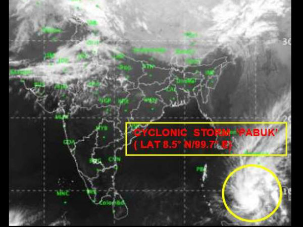 IMD issues alert over emergence of cyclone Pabuk into the Andaman Islands