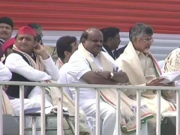 ಮಹಾಘಟಬಂಧನ Rally LIVE: ದೇವೇಗೌಡರ ಸ್ವಗುಣಗಾನಕ್ಕೆ ವೇದಿಕೆಯಾದ rally!