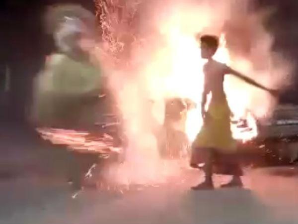 ಬೆಂಕಿಯ ಮೇಲೆ ದೈವದ ನರ್ತನ:ಹುಲಿಕಲ್ ನಟರಾಜ್ ಗೆ ಸವಾಲು