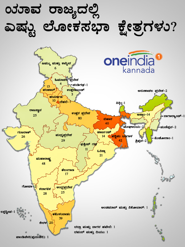 State wise list of Lok Sabha Constituencies in India in picture