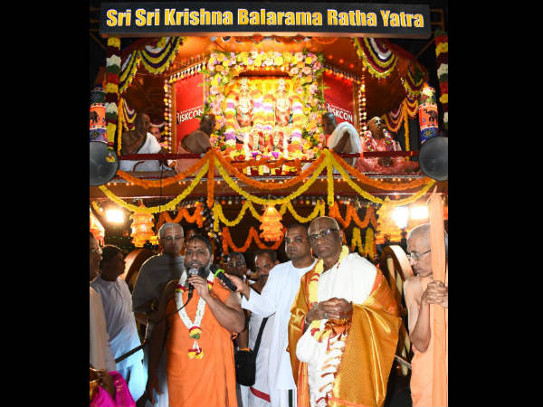 Ratha Yatra – The festival of chariot procession at ISKCON Bangalore