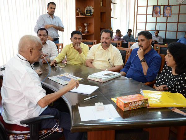 Goa:Manohar Parrikar held meeting with his cabinet colleagues