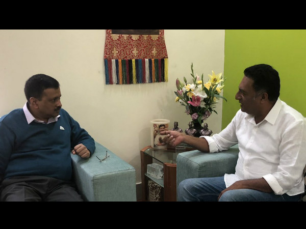 Prakash Raj met Delhi CM Arvind Kejriwal thank him for support