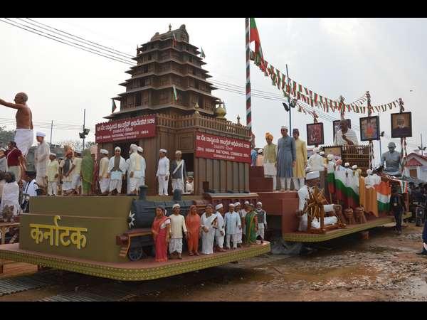 ಗಣರಾಜ್ಯೋತ್ಸವಕ್ಕೆ ಕನ್ನಡ ಗೀತೆ, ಬೆಳಗಾವಿ ಕಾಂಗ್ರೆಸ್ ಅಧಿವೇಶನ ಸ್ತಬ್ಧಚಿತ್ರ