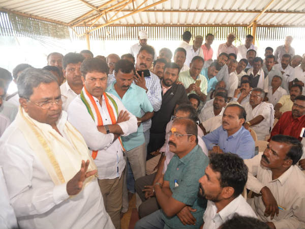 Congress activists complained to former chief minister Siddaramaiah