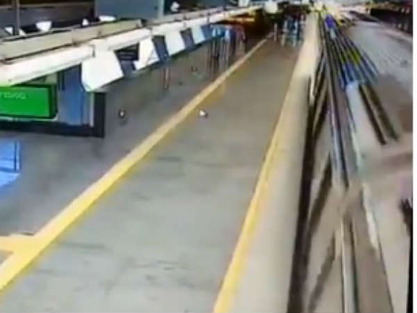 Viral Video: Bengaluru man jumps on track of metro train track survived