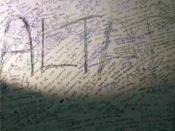 ಉಗ್ರರ ವಿರುದ್ದ ಸಹಿಸಂಗ್ರಹ ಬೋರ್ಡಿನಲ್ಲಿ ವಿಕೃತಿ ಮೆರೆದ 'ಅಲ್ತಾಫ್'