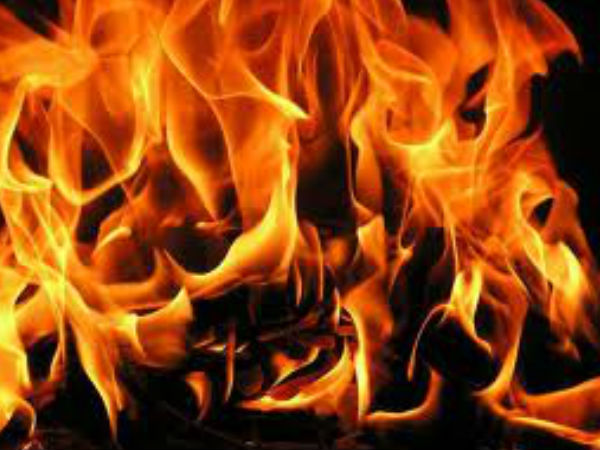 Fire broke out in an apartment at Barabail
