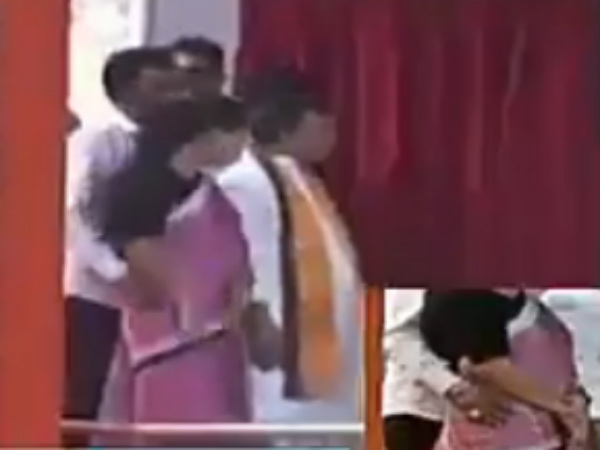 Viral video : Tripura minister gropes woman colleague with Modi on stage