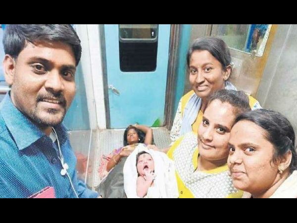 Baby girl delivered in Yashwanthpur- Bidar train
