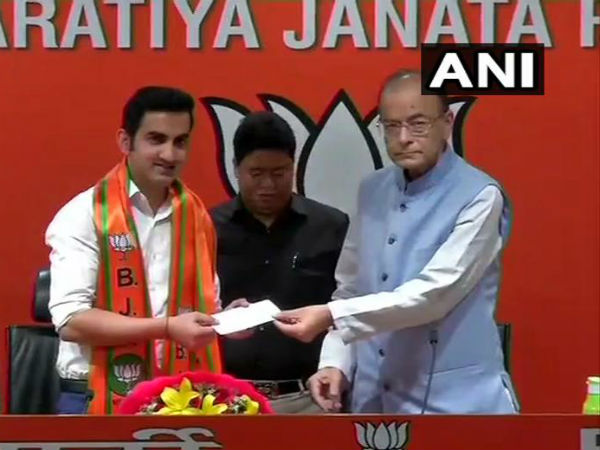 Gautam Gambhir joined BJP likely to contest in lok sabha elections 2019 from new delhi