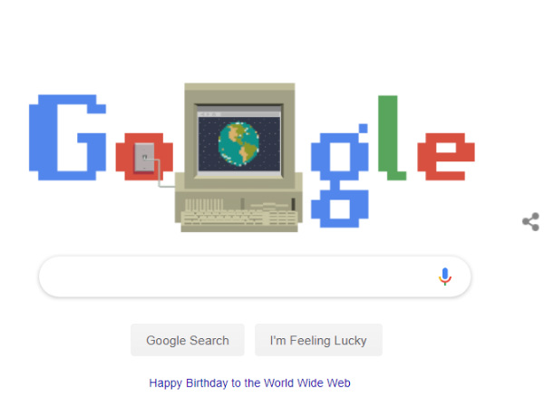 Google Doodle Celebrates World Wide Webs 30th Birthday
